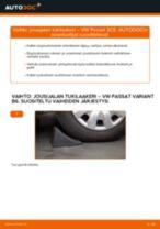 Kuinka vaihtaa jousijalan tukilaakeri eteen VW Passat 3C B6 Variant-autoon – vaihto-ohje