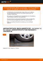 Πώς να αλλάξετε βάση αμορτισέρ πίσω σε VW Passat 3C B6 Variant - Οδηγίες αντικατάστασης