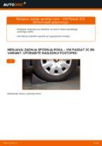 Kako zamenjati in prilagoditi Vilica VW PASSAT: vodnik pdf
