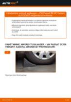 VW PASSAT Variant (3C5) vahetada Käsijarru Vaijeri : käsiraamatute pdf