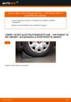 Hátsó alsó felfüggesztő kar-csere VW Passat 3C B6 Variant gépkocsin – Útmutató