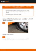 Kā nomainīt: priekšas riteņa rumbas gultņa VW Golf 4 - nomaiņas ceļvedis