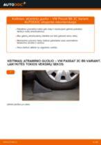 Kaip pakeisti VW Passat 3C B6 Variant atraminio guolio: galas - keitimo instrukcija