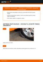 Kaip pakeisti VW Golf 4 rato guolio: priekis - keitimo instrukcija
