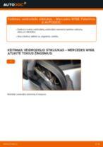 Kaip pakeisti Mercedes W168 veidrodelio stikliukas - keitimo instrukcija