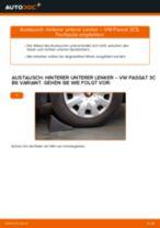 Wie VW Passat 3C B6 Variant hinterer unterer Lenker wechseln - Schritt für Schritt Anleitung