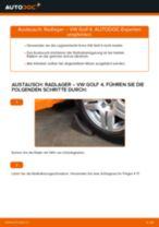 Wechseln von Radlagersatz VW GOLF: PDF kostenlos