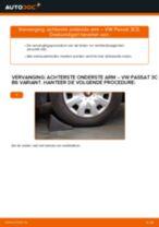 Hoe Draagarm wielophanging vervangen en installeren VW PASSAT: pdf tutorial