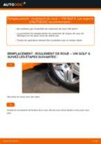Comment changer : roulement de roue avant sur VW Golf 4 - Guide de remplacement