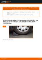 Come cambiare braccio inferiore posteriore su VW Passat 3C B6 Variant - Guida alla sostituzione