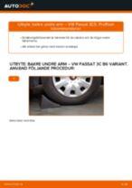 Byta bakre undre arm på VW Passat 3C B6 Variant – utbytesguide