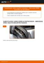 Como mudar vidro espelho retrovisor em Mercedes W168 - guia de substituição