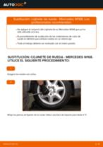 Cómo cambiar: cojinete de rueda de la parte trasera - Mercedes W168 diésel   Guía de sustitución