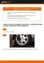 Como mudar rolamento da roda da parte traseira em Mercedes W168 diesel - guia de substituição