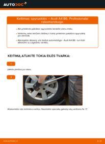 Kaip atlikti keitimą: 1.9 TDI Audi A4 b6 Spyruoklės