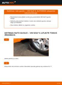 Kaip atlikti keitimą: 1.4 16V Golf 4 Rato guolis