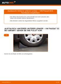 Wie der Wechsel ausgeführt wird: Querlenker beim VW PASSAT