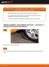 Comment effectuer un remplacement de Roulement De Roues sur 1.4 16V VW Golf IV