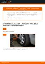 Slik bytter du hjullager fremme på en Mercedes W168 diesel – veiledning