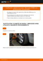 Cómo cambiar: cojinete de rueda de la parte delantera - Mercedes W168 diésel   Guía de sustitución