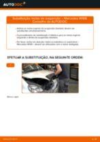 Como mudar molas de suspensão da parte dianteira em Mercedes W168 diesel - guia de substituição