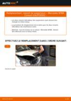 Comment changer et régler Ressort d'amortisseur MERCEDES-BENZ A-CLASS : tutoriel pdf