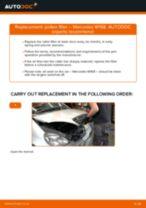 Replacing Cabin filter MERCEDES-BENZ A-CLASS: free pdf