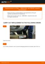 PDF replacement tutorial: Air filter BMW 3 Saloon (E90)