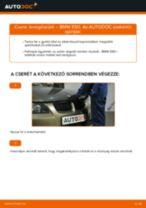 Levegőszűrő-csere BMW E90 benzin gépkocsin – Útmutató