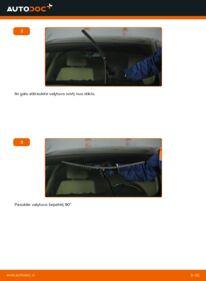 Kaip atlikti keitimą: 320d 2.0 BMW E90 Valytuvo gumelė
