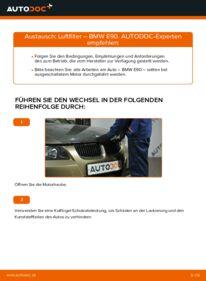 Wie der Wechsel durchführt wird: Luftfilter 320d 2.0 BMW E90 tauschen