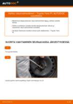 Kuinka vaihtaa iskunvaimentimet taakse Toyota Yaris P1-autoon – vaihto-ohje