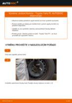 Jak vyměnit přední uložení tlumiče na Toyota Yaris P1 – návod k výměně