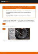Zamenjavo Drzalo, vlezajenje stabilizatorja TOYOTA YARIS: navodila za uporabo