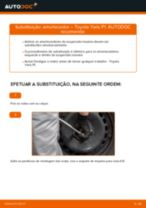 Como mudar amortecedores da parte traseira em Toyota Yaris P1 - guia de substituição