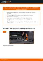 Pollenszűrő-csere Ford Mondeo BWY gépkocsin – Útmutató