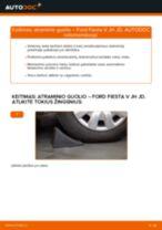 Kaip pakeisti Ford Fiesta V JH JD atraminio guolio: priekis - keitimo instrukcija