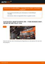 Montage Benzinfilter FORD MONDEO III Estate (BWY) - Schritt für Schritt Anleitung