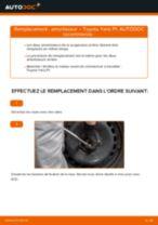 Comment changer : amortisseur arrière sur Toyota Yaris P1 - Guide de remplacement
