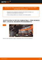 Cuándo cambiar Filtro de Combustible FORD MONDEO III Estate (BWY): manual pdf
