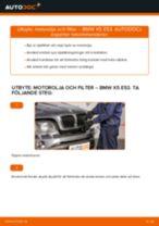 Byta motorolja och filter på BMW X5 E53 – utbytesguide