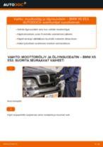 Kuinka vaihtaa moottoriöljy ja öljynsuodatin BMW X5 E53-autoon – vaihto-ohje