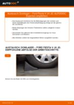 FORD FIESTA V (JH_, JD_) Bremsscheibe: Online-Handbuch zum Selbstwechsel