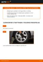 Slik bytter du fjærer bak på en Mercedes W168 diesel – veiledning