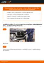 Como mudar óleo do motor e filtro em BMW X5 E53 - guia de substituição