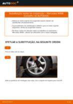 Como mudar molas de suspensão da parte traseira em Mercedes W168 diesel - guia de substituição