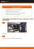 Kuidas vahetada BMW X5 E53 mootoriõli ja filtrit – õpetus