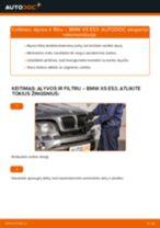 Montavimo Alyvos filtras BMW X5 (E53) - žingsnis po žingsnio instrukcijos