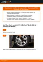 Cómo cambiar: muelles de suspensión de la parte trasera - Mercedes W168 diésel   Guía de sustitución