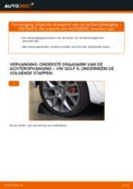 Montage Draagarm wielophanging VW GOLF VI (5K1) - stap-voor-stap handleidingen